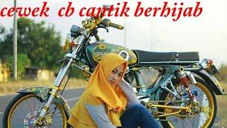 Cewek cantik hijabers naik cb
