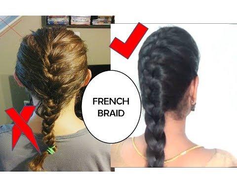 STEP BY STEP FRENCH BRAID HAIR TUTORIAL IN TAMIL | STARNATURALBEAUTIES
