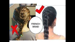 STEP BY STEP FRENCH BRAID HAIR TUTORIAL IN TAMIL   STARNATURALBEAUTIES