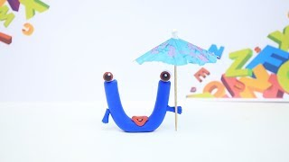 Coco Train LEARNING LETTER U - Clay & Play Doh Cartoons For Kids