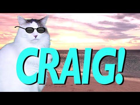 Happy Birthday Craig Epic Cat Happy Birthday Song Youtube