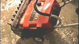 HOW TO REPLACE CARBURETOR DIAPHRAGM ON TORO 2 CYCLE SNOWTHROWER PART 2