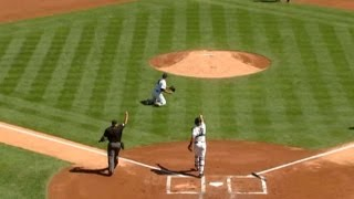 bal nyy aceves unassisted double play