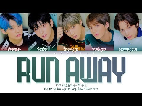 TXT - Run Away (Color Coded Lyrics Eng/Rom/Han/)