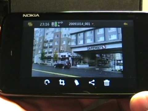 Camera app and media player on the Nokia N900