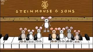 Скачать видео заставку на пианино прыгают мыши