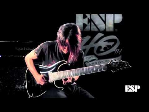 ESP Guitars: E-II HRF FR-8B Prototype Demonstration featuring ISAO