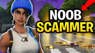 Insane Noob Scammer Loses His Guns! (Scammer Get Scammed) Fortnite Save The World
