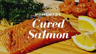 How to make Cured Salmon at Home | Easy Cured Salmon Recipe| Salted Salmon |Homemade Salmon Sashimi