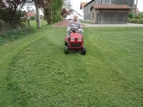 rasentraktor mtd b10 briggs stratton 11 hp youtube. Black Bedroom Furniture Sets. Home Design Ideas