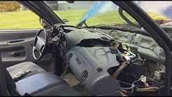 2001 DODGE RAM BROKEN DASH NEW DASH CAP INSTALL COMPLETE INSTALL