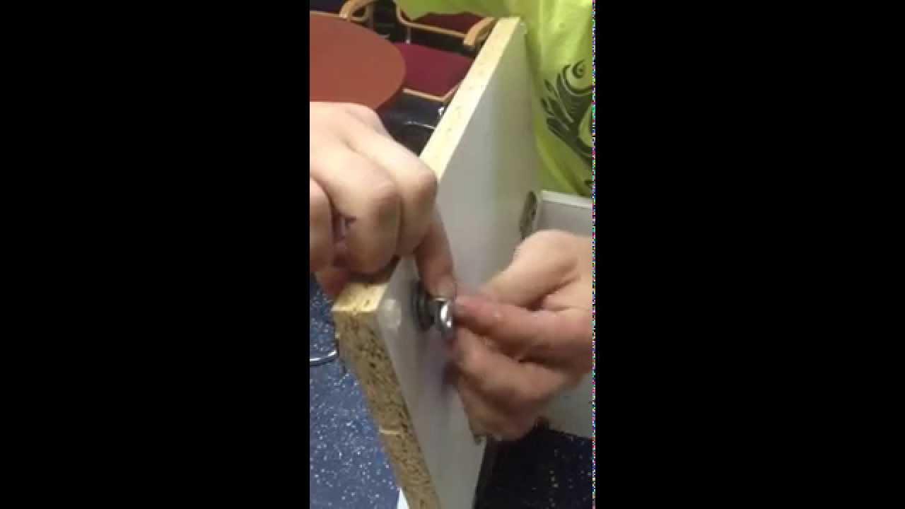 Installing Drawer and Cabinet Keyed Cam Locks - YouTube