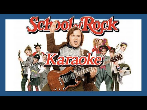 School Of Rock Backing Track for singer Karaoke