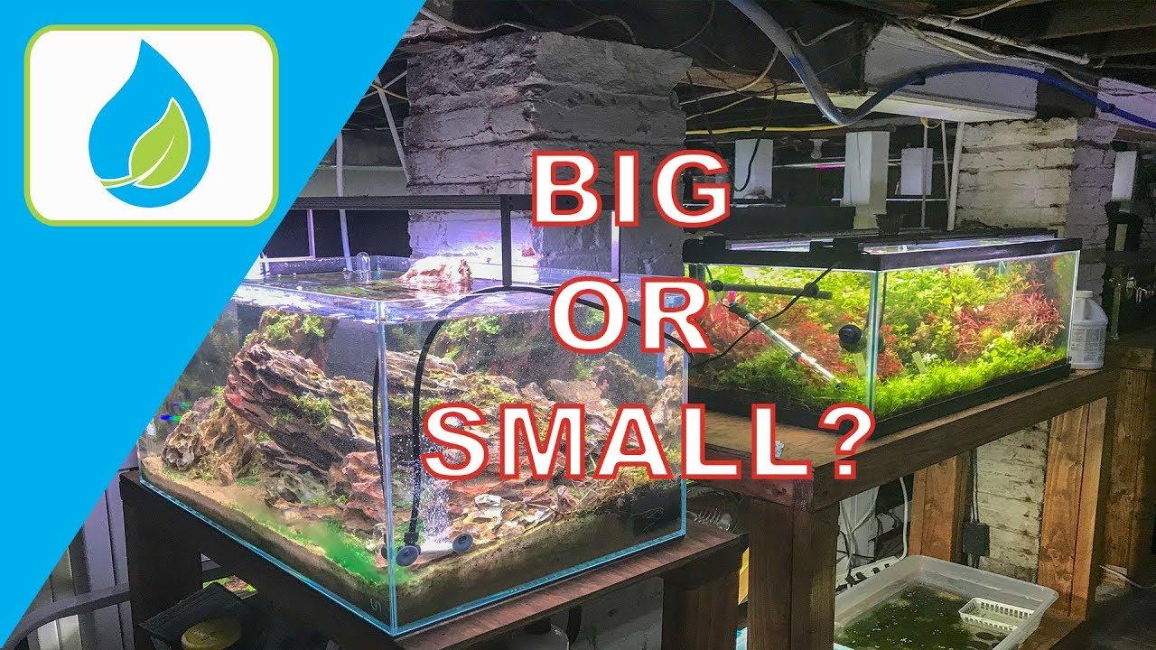 best aquarium size for aquascaping youtube