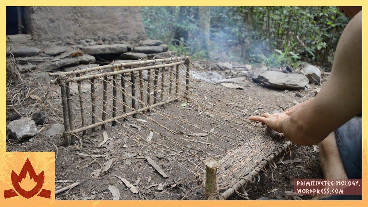 Woven bark fiber