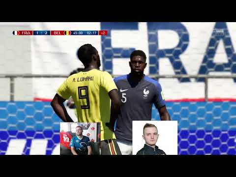 """Deux pro-gamers jouent France-Belgique sur """"FIFA 18"""""""