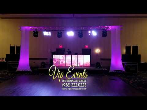 Sound, Lights & LED Screen DJ-Booth CHECK@ Embassy Suites Mcallen Convention Center by VIP Events DJ