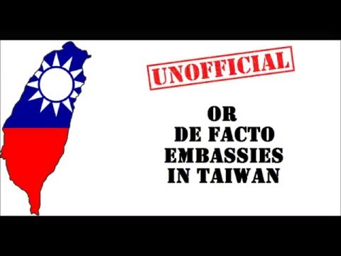 Unofficial Or De Facto Embassies In Taiwan