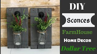 Dollar Tree DIY | Farmhouse Sconces Home Decor