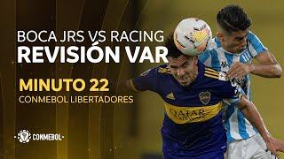 Libertadores   Revisión VAR   Boca Juniors vs Racing   Minuto 22