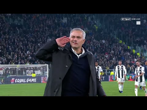 Jose Mourinho cups his ears and taunts Juventus fans after late Manchester United win