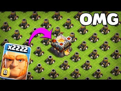 2222 Max Giant VS Ful Max Morter Base Attack On Coc Private