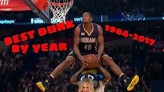 NBA Best Dunk Contest Dunk By Year (1984-2017) Video