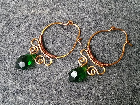studio of earrings salt copper hoop pillar spiral by infinity wire inc