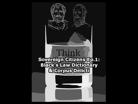 Sovereign Citizens Ep. 1: Black's Law Dictionary and Corpus