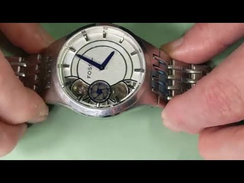 Fossil TWIST Semi-Automatic Watch ME-1036 Replacing Battery And Fixing Mechanical Problems PART I