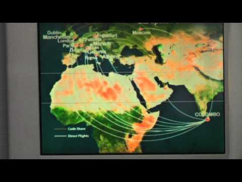 Sri Lankan Airlines - Colombo Katunayake Airport & Inflight Video