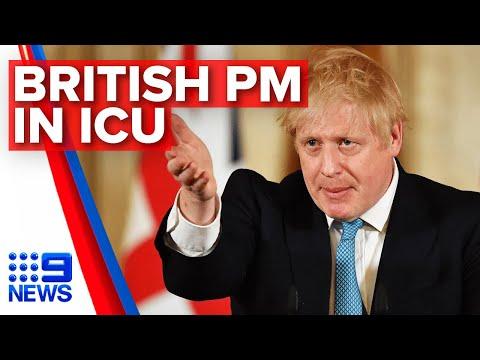 Coronavirus: Boris Johnson in intensive care   Nine News Australia