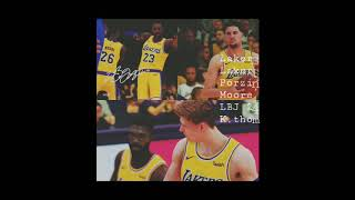 Lakers130 vs okc 96 Lakers come out on fire ,Moore, LBJ, prozingas, klay to much