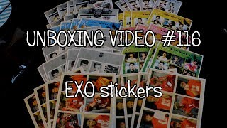Jessie's K-Pop Corner - Unboxing video #116 EXO stickers