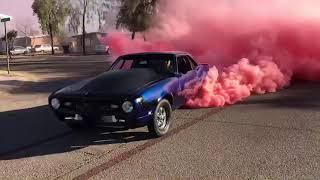 Camaro Gender Reveal Burnout