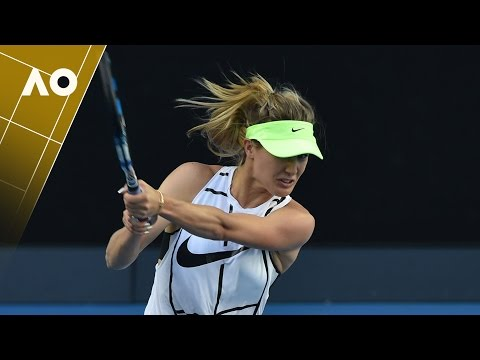 Eugenie Bouchard pre-tournament practice session | Australian Open 2017
