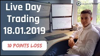 Live Day Trading (Indices/Forex) -  18th January 2019 - How To Increase Your Position Size?