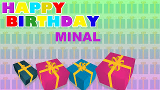 Minal - Card Tarjeta_1685 - Happy Birthday