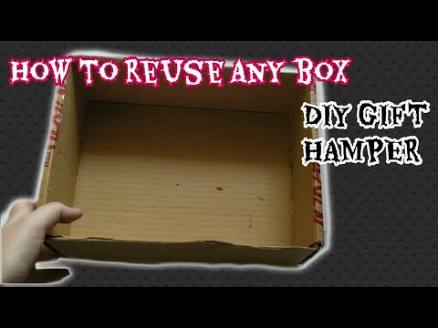 How to reuse any empty box /DIY gift hamper idea for best friend's wedding/MISS CREATIVE