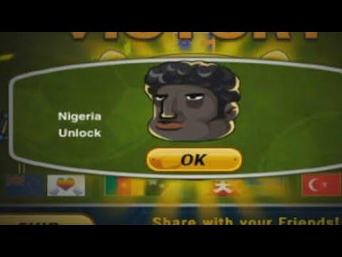 HOW TO UNLOCK NIGERIA IN HEAD SOCCER (TOURNAMENT)