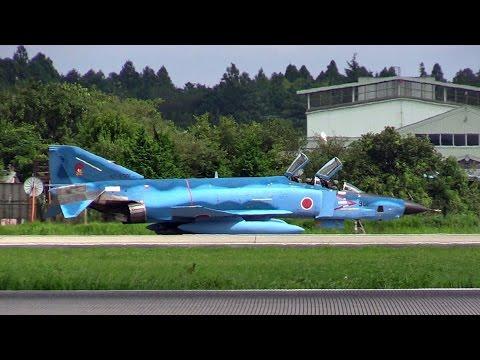青いファントム!!! 洋上迷彩塗装機 RF-4 百里基地偵察航空隊501飛行隊 2ndミッション離陸