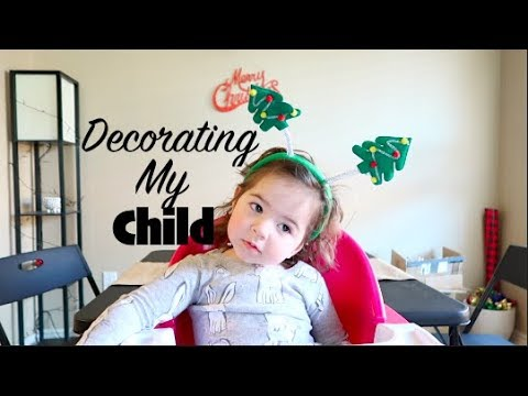 CHEAP holiday decor! (and a really cute baby)
