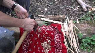 Bushcraft - Challenge : One Stick Fire... With An Axe !