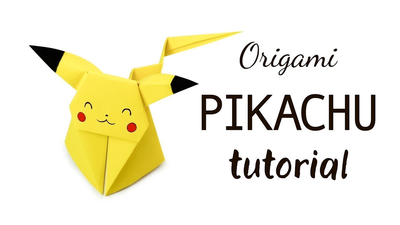 origami pikachu tutorial � pokemon diy � paper kawaii