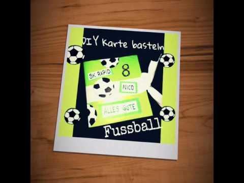Diy Einladungskarten Selber Basteln Ball Fussballkarten Fur Jungs Soccer Cards Karten Basteln
