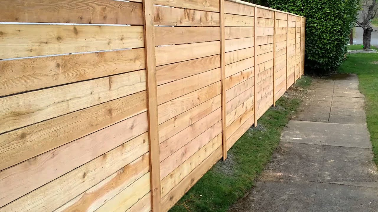 Horizontal Cedar Fence Youtube