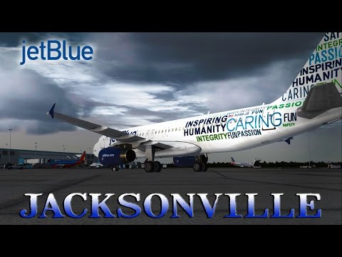 FSX [HD] - jetBlue | Airbus A320 | Approach to Jacksonville International Airport