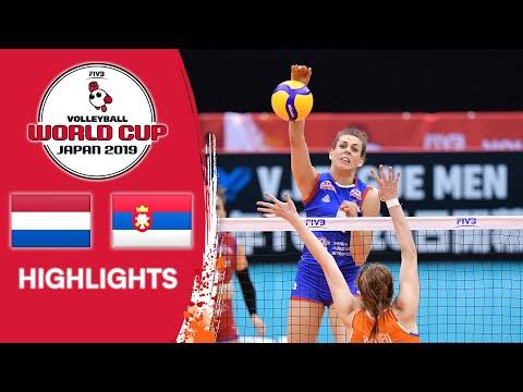 NETHERLANDS vs. SERBIA - Highlights | Women's Volleyball World Cup 2019