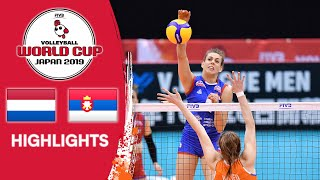 NETHERLANDS vs. SERBIA - Highlights | Women's Volleyball World Cup 2019 Video