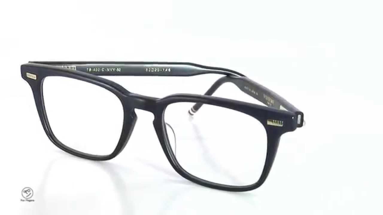 bf4832633e4a THOM BROWNE eyewear トムブラウン メガネ TB-402-C Matte Navy 52size ...